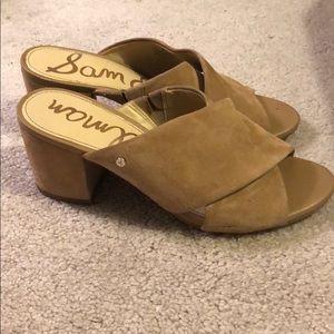 Sam Edelman tan suede sandal - sz 5.5